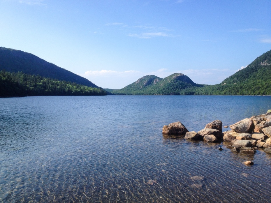 Acadia is known for its diverse landscape, from glacial mountain ridges and granite peaks climbing more than 1,000 feet into the air, to waterfalls, lakes, ponds, and the crashing ocean.